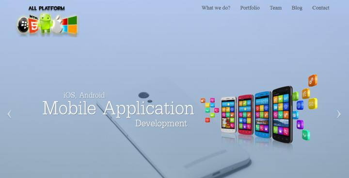 landing for mobile apps devlopement company