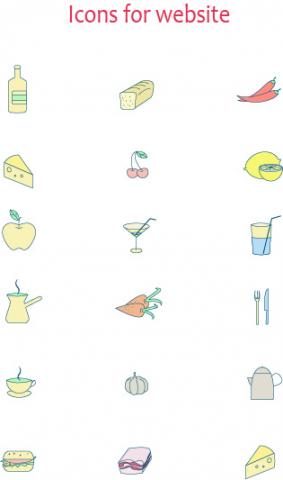 Иконки для сайта ресторана