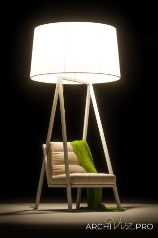 Моделирование и визуализация кресла Reading-lover