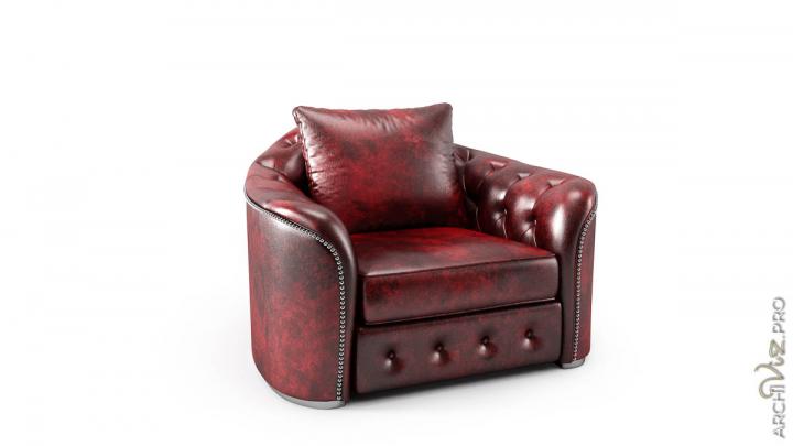 Моделирование и визуализация кресла BOURBON
