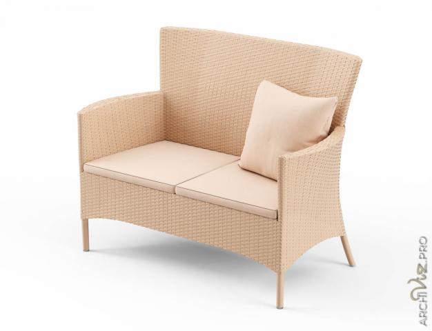 Моделирование и визуализация плетенного дивана