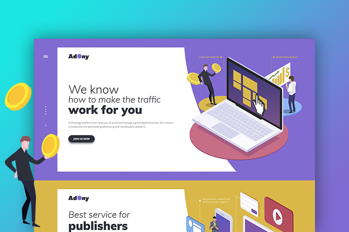 AdOny - international pay-per-click and display network