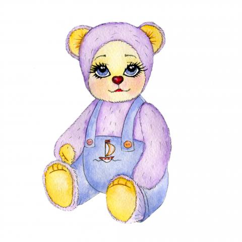 Иллюстрация медвежонок