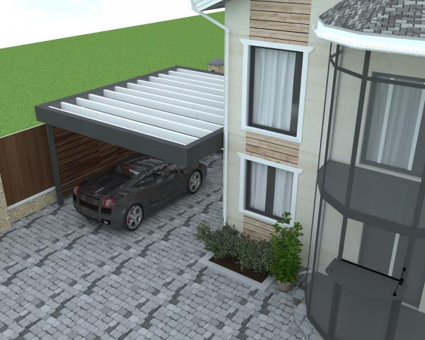 Визуализация навеса для автомобилей