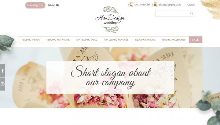 """""""Wedding HanDesign"""" — компания по продаже свадебных аксессуаров"""