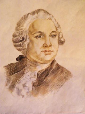 Портрет Ломоносова на заказ в кабинет