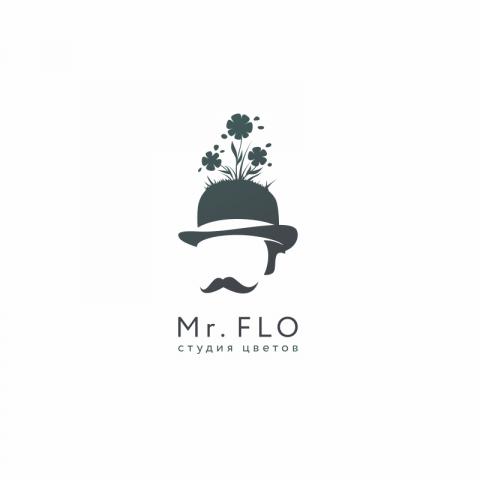 Логотип студии цветов Mr. Flo