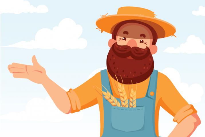 Конкурсный концепт персонажа для компании, выращивающей пшеницу