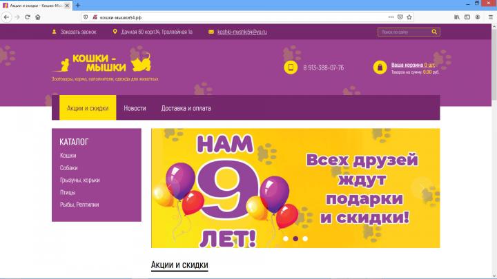 Доработка функционала интернет-магазина на Yii