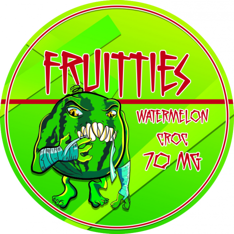 Этикетка FRUITTIES WATERMELON