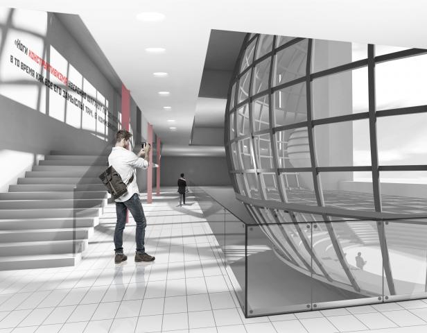 Концептуальная визуализация интерьера музея