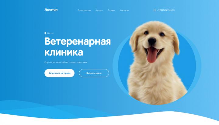 Лендинг для ветеринарной клиники