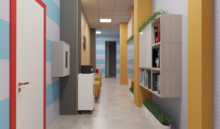 Визуализация холла детского центра