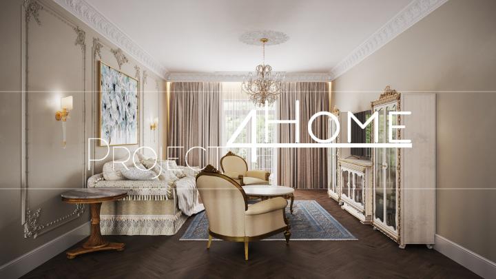 Дизайн-проект жилого дома (холл второго этажа - 74,95 м2)