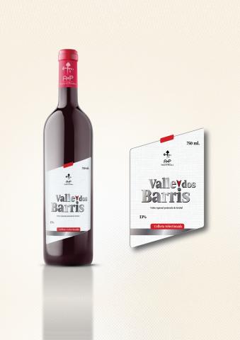 этикетка вина Valle dos Barris