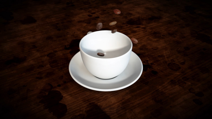 Coffe Beans Falling Animation