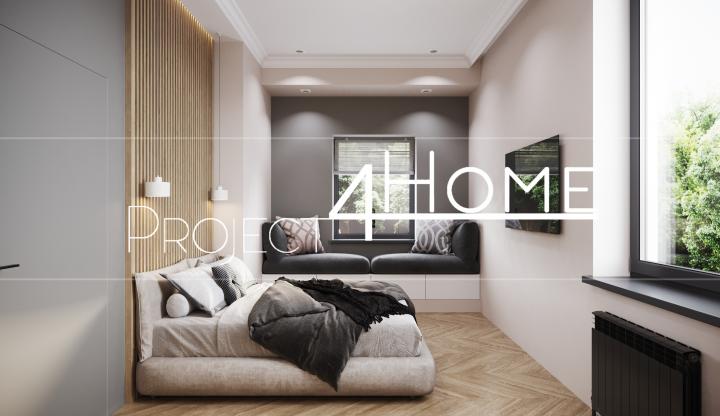 Дизайн-проект коттеджа 170 м2 (интерьер) - гостевая спальня