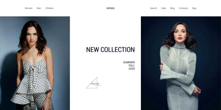 Главная страница интернет-магазина одежды