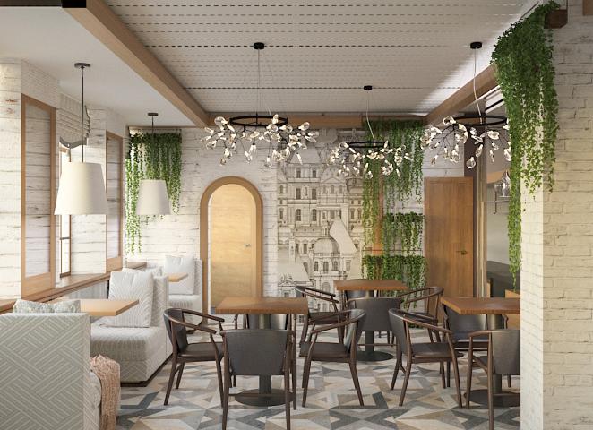 Проект реконструкции кафе ПРОВАНС
