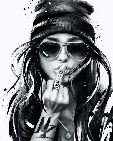 MZ (Fatalism Art) Black and white