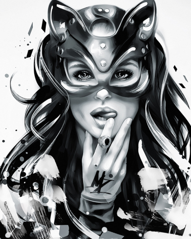 Catwoman (Fatalism Art) Black and white