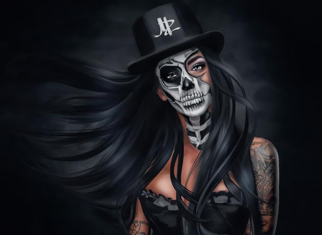 Santa Muerte (Digital art)