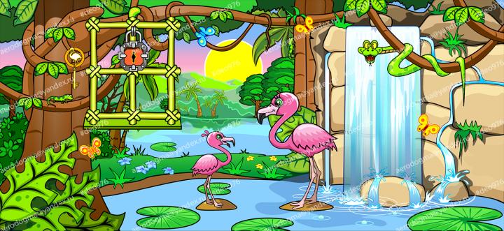 """Игровая локация """"фламинго"""""""