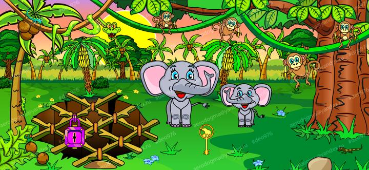 """Игровая локация """"слоны"""""""