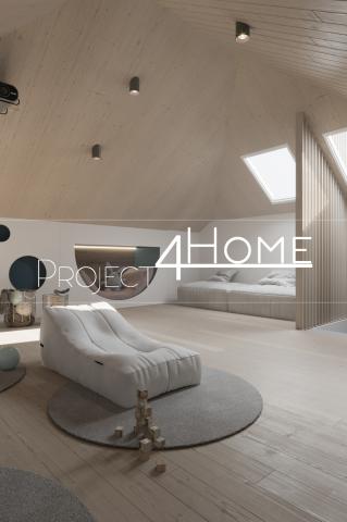 Дизайн-проект коттеджа 170 м2 (интерьер) - мансарда