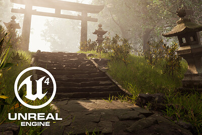 Japanese Forest UE4 Environment