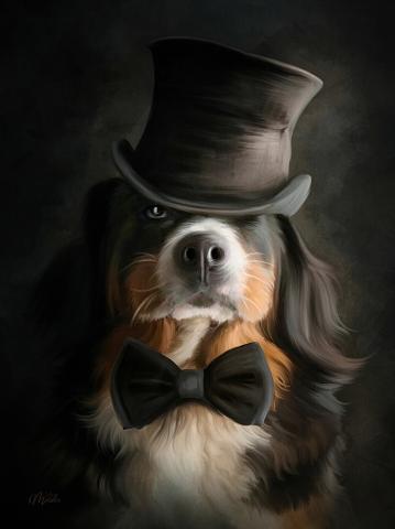 Jerry (Gentleman dog) цифровая живопись