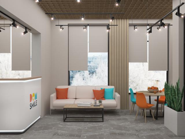 Офис отдел продаж Dom Smile 100м2 (клиентская зона)