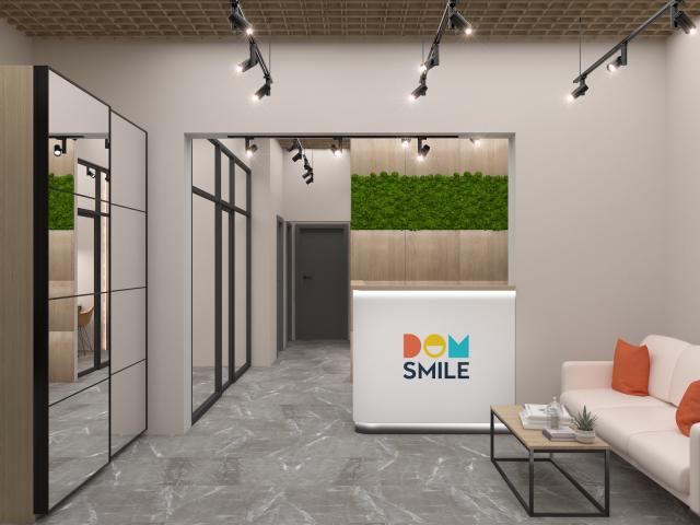 Офис отдел продаж Dom Smile 100м2 (ресепшен)
