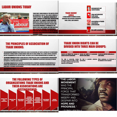 "Презентация на тему ""Labour movement"""