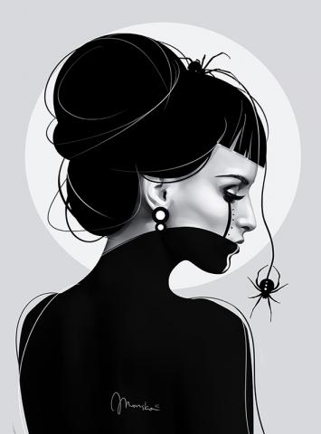 Phobias of spiders (Easy Hard Art style)