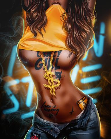 Crazy girl (Digital art)