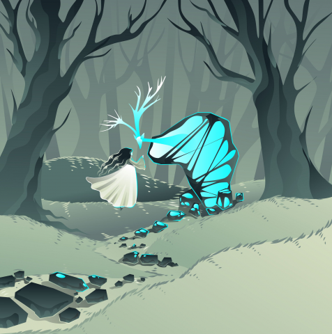 Таинственные камни в лесу